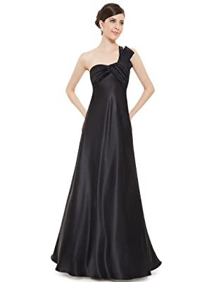 Ever Pretty Fashion One Shoulder Ruched Bust Satin Long Prom Party Dress