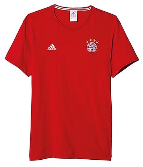 a8c681e8114 Amazon.com   adidas FC Bayern Munich 3 Stripe TEE  FCBTRU  (M ...