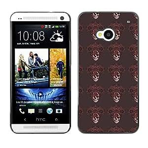 iKiki-Tech Estuche rígido para HTC One M7 - Dark Skull