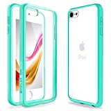 iPod Touch 6 Case, iPod Touch 5 Case, ENDLER [Fusion][CLEAR SLIM] Hybrid Premium TPU Bumper Scratch Resistant Hard Clear Back Panel Shock Absorption Case for Apple iPod Touch 5th 6th Gen (Mint Green)