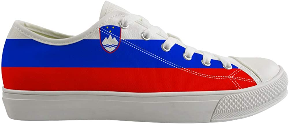 Classic Sneakers Unisex Adults Low-Top Trainers Skate Shoes Slovenia Flag