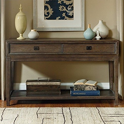 American Drew Park Studio 2 Drawer Wood Console in - American Sofa Drew Table