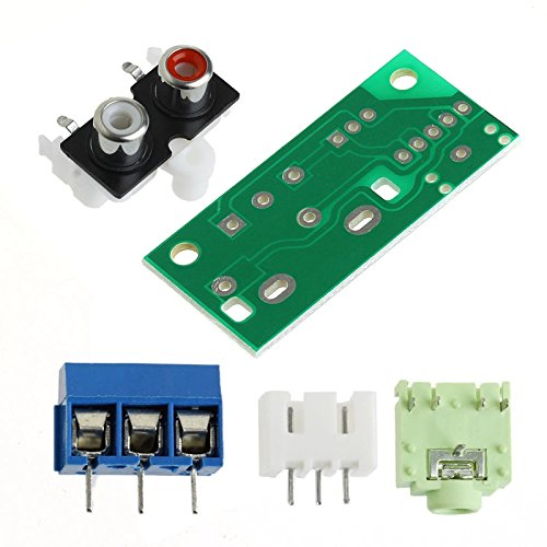 - GIMAX DIY Audio Switch Board RCA 3.5mm Audio Input Block for Amplifier Electronic Kit