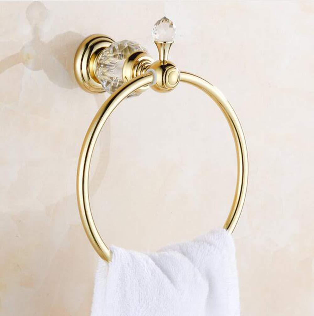 Gancho Toalla toallero Barra portavasos Barra lat/ón Macizo Oro MICHEN Tenedor de Papel Accesorios de ba/ño,M Barra Cristal Batas de ba/ño