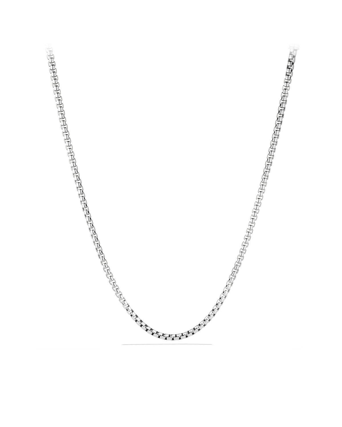 NYC Sterling Unisex Solid Italian 3mm Round Box Chain in Sterling Silver (28'')
