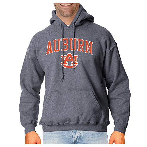 (Elite Fan Shop Auburn Tigers Vintage Hooded Sweatshirt Charcoal Victory - L )