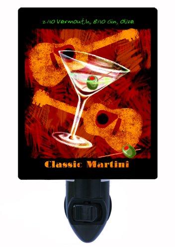 Kitchen and Bar Night Light, Classic Martini, LED Night Light