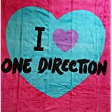 "One Direction Throw. I love 1D plush throw blanket. Neon color, super soft Licensed throw. 50X60"" beautiful bed throw."