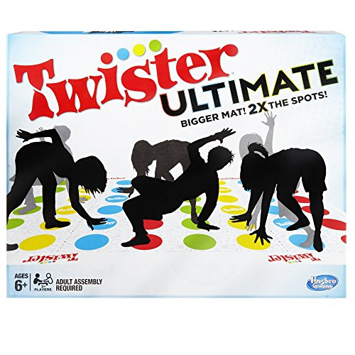 Twister Ultimate: Bigger Mat, More Colored Spots, Family, Kids Party Game Age 6+; Compatible with Alexa (Amazon -