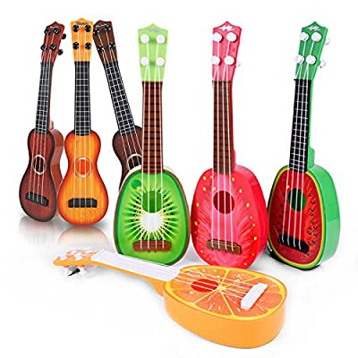 "Mini Guitar Ukulele Musical Instruments Toy Cute Fruit 4 String Learning for Baby Children 14.96"" Inch : Baby"