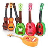 Mini Guitar Ukulele Musical Instruments Toy Cute Fruit 4 String Learning for Baby Children 14.96'' inch