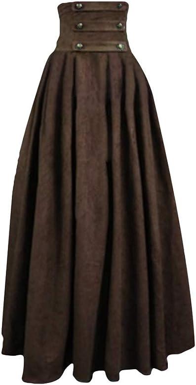 MEIHAOWEI Falda Larga para Mujer Faldas De La época Victoriana ...