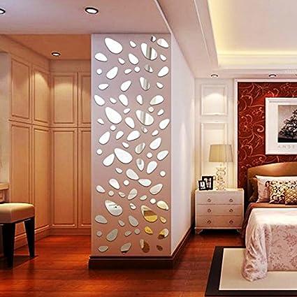 12 Unds Pegatina Vinilo Espejo Decoracion Moderna Para Dormitorios - Espejo-salon-moderno