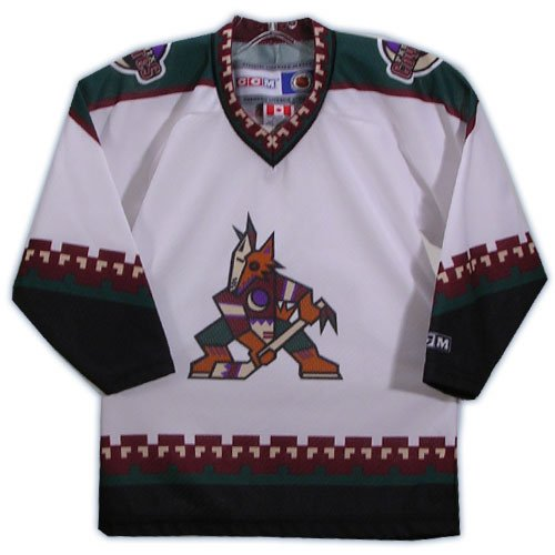 MASKA - CCM U.S. Inc. 5200 Toddler Replica Hockey Jersey - Phoenix Coyotes - White - Toddler Replica Hockey Jersey