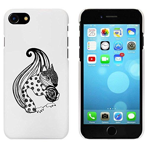 Blanc 'Écureuil et Écrou à Motifs' étui / housse pour iPhone 7 (MC00070716)