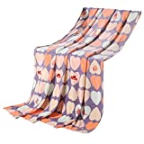 Love Heart Shape Baby Air Conditioning Coral Carpet Infant Towel Blanket