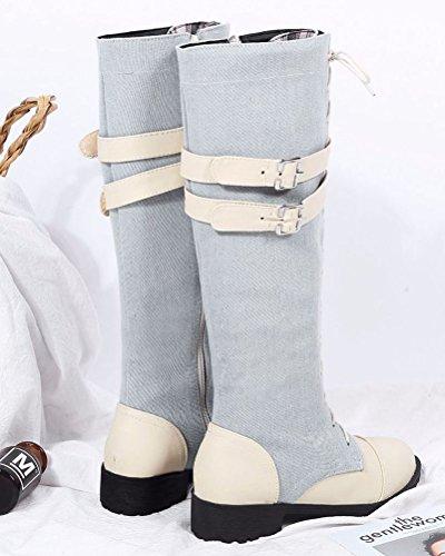 Western Stivali Donna HiTime Western HiTime Stivali Beige Donna XqCFCv