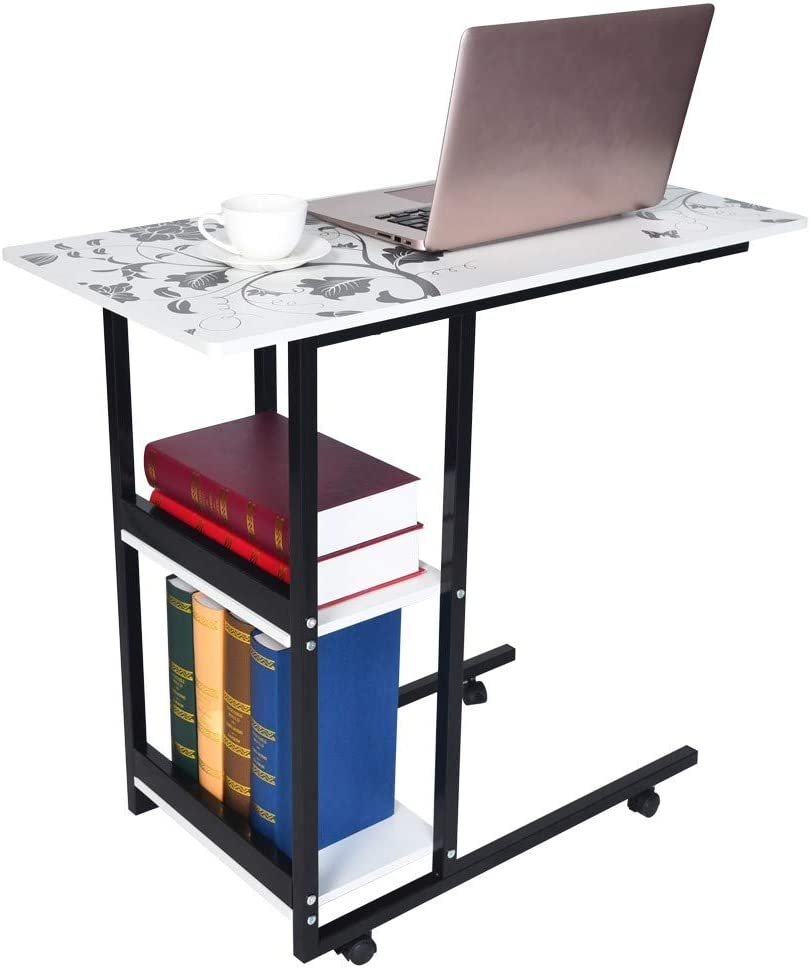 【US Stock】 Computer Desk, Libobo Laptop Table Simple Folding Lazy Bedside Computer Table Simple Desktop Home Mobile Small Table