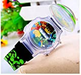black Ben 10 Watch flip children kids cartoon Watches Band WP@MYA166695B
