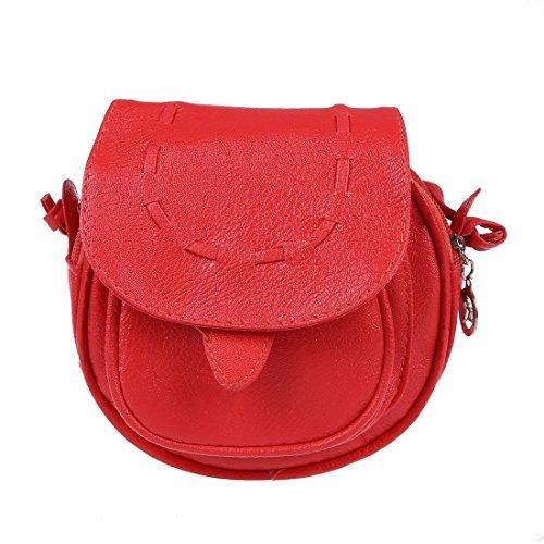 aed32765a0775 SODIAL(R) Neue Fashion Messenger Bag Mini Schulter Beutel PU-Leder Kurier  Umhaengetasche ...