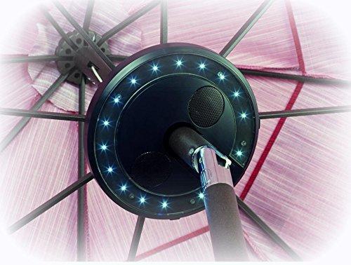 Patio Petite ~ 8'' Umbrella Bluetooth Speaker with 16 LED Lights XPS001W (Quantity 1)