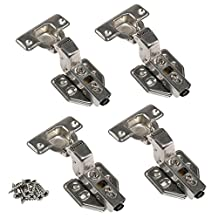 JinHe Stainless Steel Soft Slow Close Clip On Frameless Cabinet Hinges For Inset Door 2-Pairs