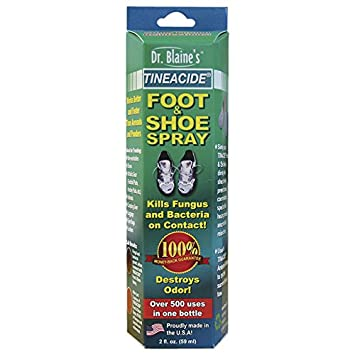 Amazon.com: Dr. Blaine's Tineacide Foot And Shoe Spray, 2 Fluid ...