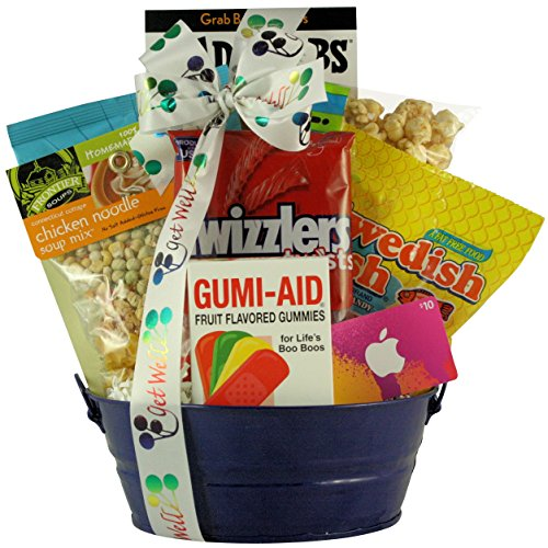 GreatArrivals Boy's Get Well Gift Basket, Itunes Therapy, 3 Pound ()