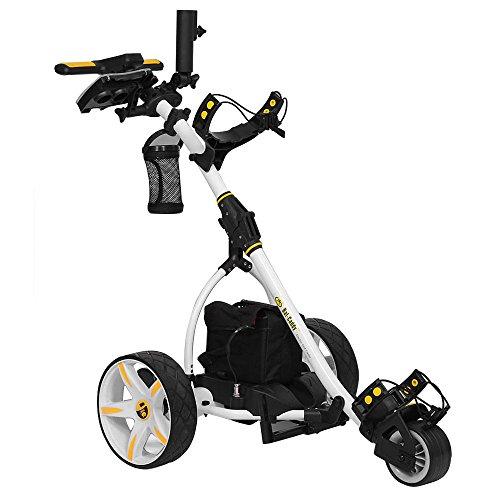 Bat-Caddy X3R Remote Control Cart w/ Free Accessory Kit, White, 20Ah Lithium -