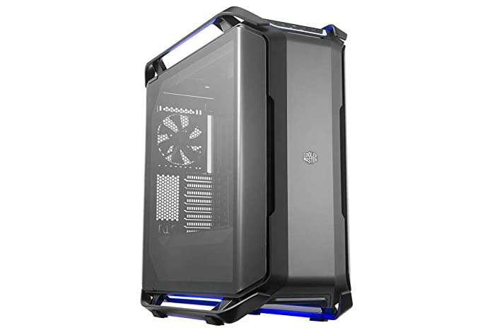 Cooler Master Cosmos C700P Black Edition E-ATX Full-Tower with Curved Tempered Glass Side Panel, Flexible Interior Layout, RGB Lighting Control, Type-C Port and Diverse Liquid Cooling Layout