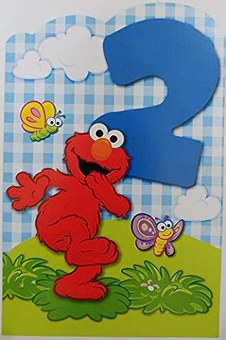 Elmo - Happy 2nd Birthday Greeting Card