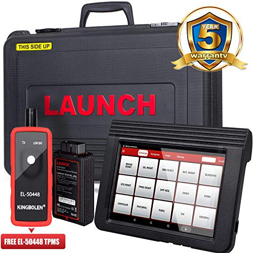 LAUNCH X431 V (V PRO) WiFi/Bluetooth OBD2 Scanner Auto Full System Diagnostic Tool Support ECU Coding,Actuation Test,Remote Diagnostic,Reset Functions Free Online Update+EL-50448 TPMS as Gift (Torque Pro Software)