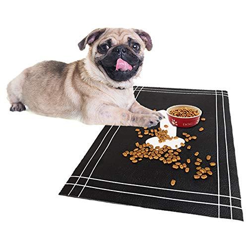 Qingbei Rina Dog Cat Food Feeding Mat  Digital Print and Cute Original Design  Flexible, Waterproof Pet Food Mat