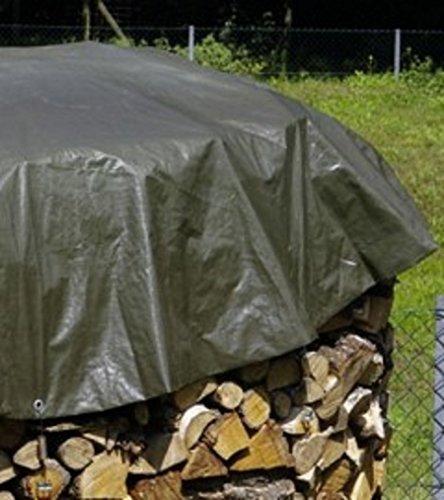 PolyTarp Holz-Abdeckplane RUND - grü n -'schwere Ausfü hrung' 4 m Durchmesser Zill