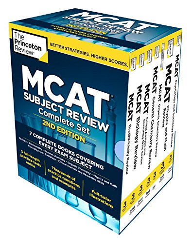 045148715X - Princeton Review MCAT Subject Review Complete Box Set, 2nd Edition: 7 Complete Books + Access to 3 Full-Length Practice Tests