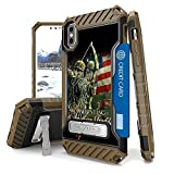 Iphone X Case, Trishield Durable Shockproof High Impact Rugged Armor Phone Cover With Detachable Lanyard Loop Card Slot Built In Kickstand For Iphone X - Bow Hunting