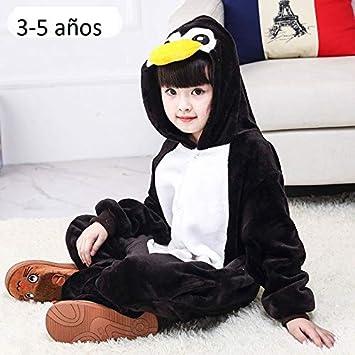 313f6e8dc5 KRAZY TOYS Pijama Animal Entero Unisex para Niños como Ropa de Dormir-Traje  de Disfraz para Festival de Carnaval (Pinguino