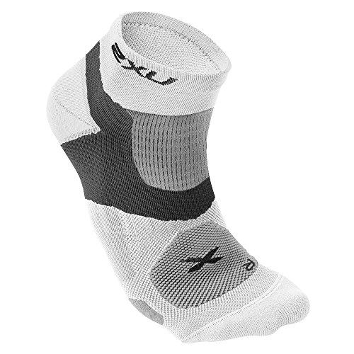 2XU Men's Long Range VECTR Sock, Small, White/White