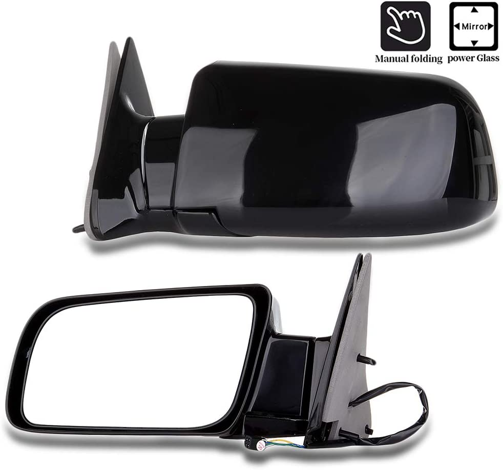SCITOO for Chevy Towing Mirrors Passenger Side for 1988-1998 Chevrolet GMC Pickup Truck 1992-1994 Chevrolet Blazer GMC Jimmy 1995-1998 Chevrolet Tahoe MC Yukon with Power Control 15764757 15764758