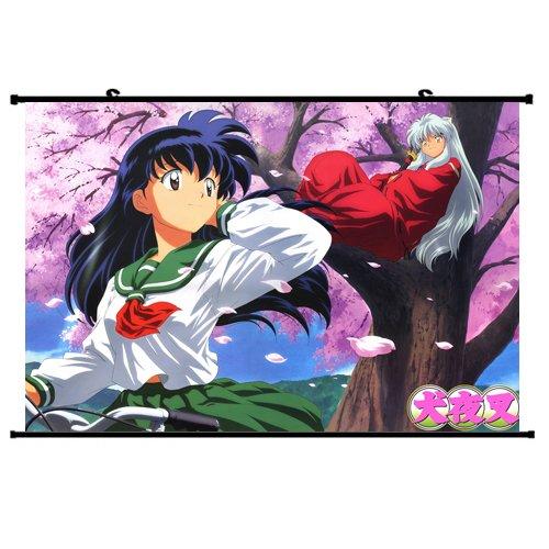 Inuyasha Anime Wall Scroll Poster Kagome Inuyasha 24*16 Support Customized