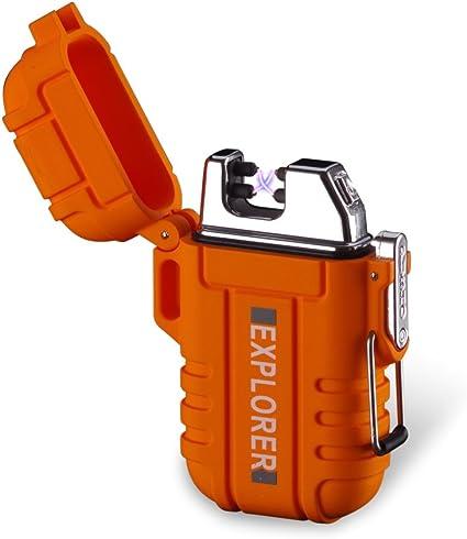 Waterproof Bushcraft,Survival. Windproof Rechargeable Twin Arc Plasma Lighter