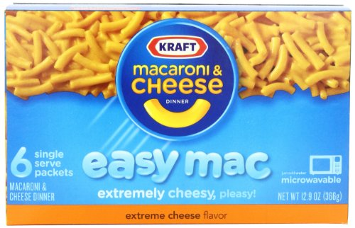 Kraft Easy Mac Dinner, Extreme Cheese, 12.9-Ounce Boxes (Pack of 8) -  Kraft Heinz Foods Company, 0002100077853