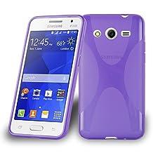 Cadorabo – Silicone Case X-LINE SLIM-FLEX for Samsung Galaxy CORE 2 (G3556D/G355) – Etui Cover Protection Bumper Skin in PASTEL-PURPLE