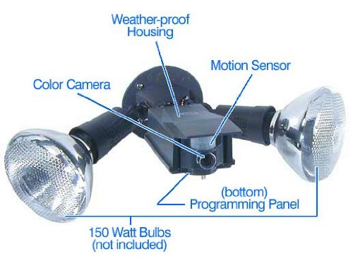X10 Flood Light with Motion Activated Camera