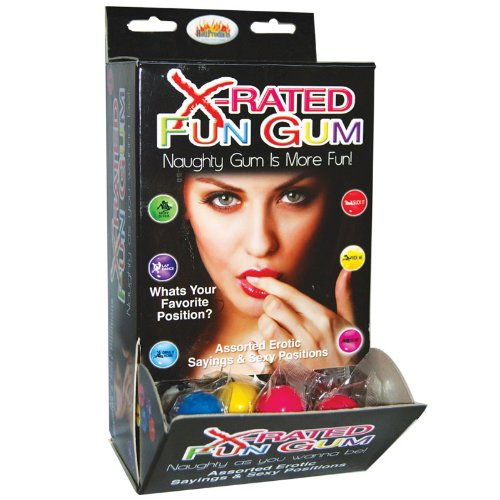 X-Rated Fun Gum Wall Mount DP (50pcs) ---(Package Of 2) by Hott Products Unlimited