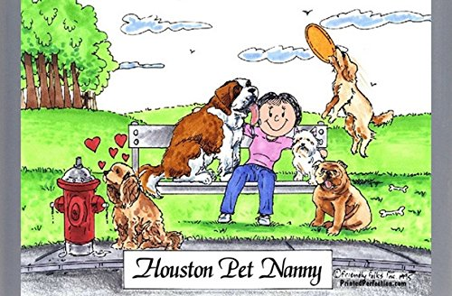 Personalized Friendly Folks Cartoon Side Slide Frame Gift: Dog Lover - Female Great for animal rescue, pet sitter, dog walker