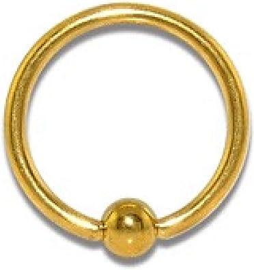 Piercing labret boule doré anodisé