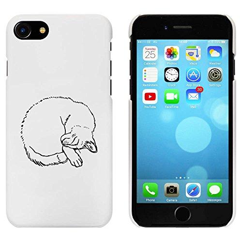 Blanc 'Chat Dormant' étui / housse pour iPhone 7 (MC00083967)