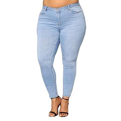 47519a1b8 Grande Taille Femme Jean Skinny Taille Haute,Overdose Automne Hiver  Pantalons Denim Slim Stretch Jeans Bleu Foncé Sexy Trousers