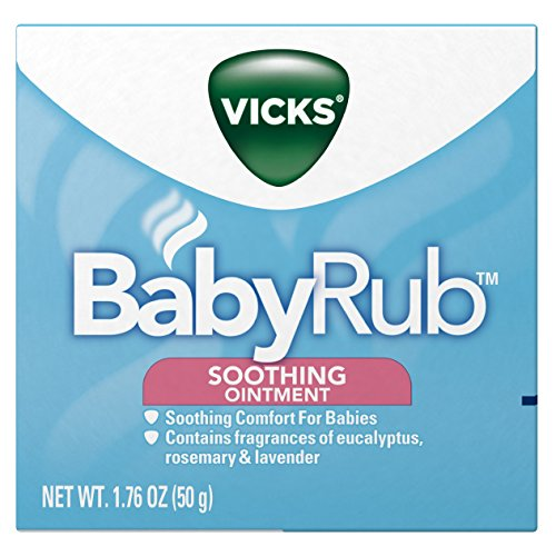 Vicks BabyRub  Soothing Chest Rub Cough Suppressant 1.76 Oz (Pack of 6)